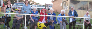 Greenstone Lodge Residents Enjoyed Watching Their Greyhound Greenstone Gift Compete At Temora