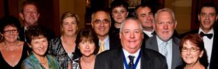 2008 Ken Carr Medallist Billy McCosker Celebrating With Friends (Trump Lenehan is pictured top left)