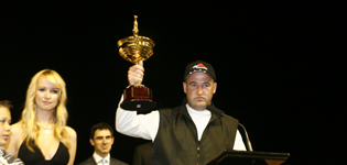 A Visibly Upset Darren McDonald At The Melbourne Cup Presentation