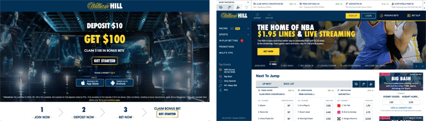 William Hill Australia bonus