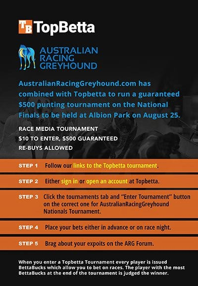 ARG Topbetta $500 tournament